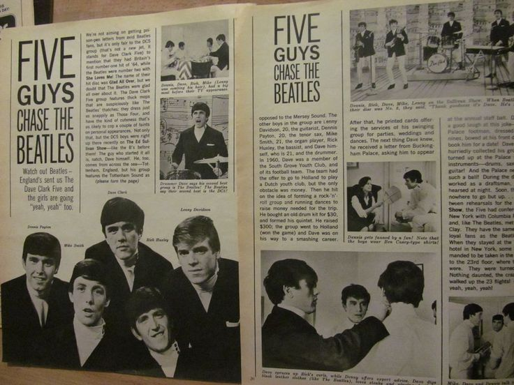 The Dave Clark Five, Two Page Vintage Clipping