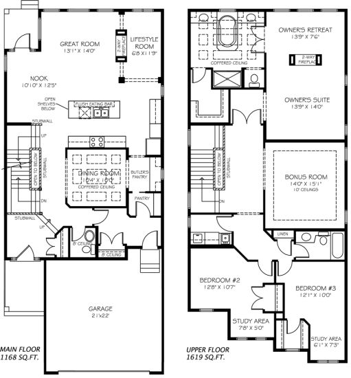 Victor Model Home Floor Plan By Pacesetter Homes