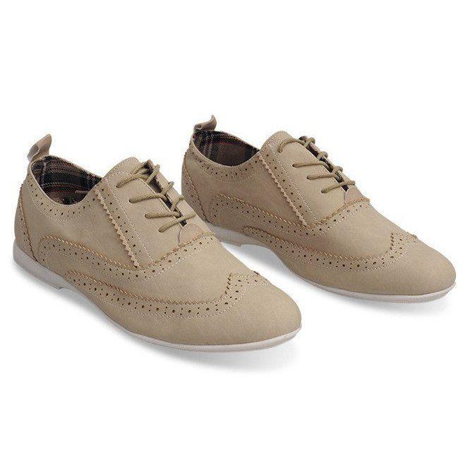 Jazzowki Polbuty 036 Beige Bezowy Dress Shoes Men Oxford Shoes Dress Shoes