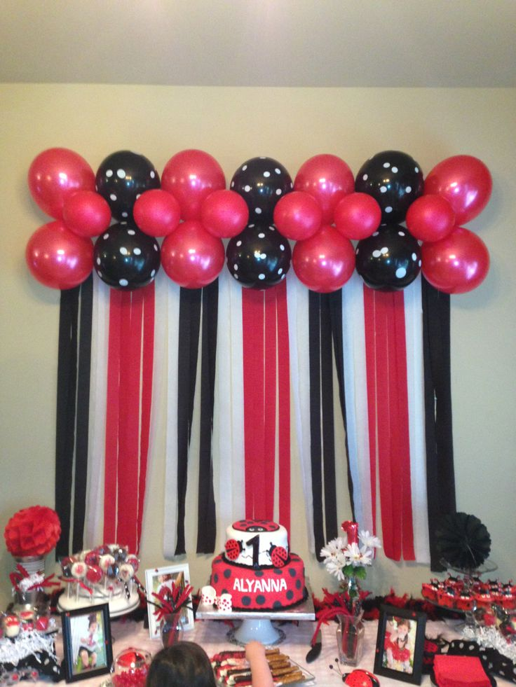 Lady bug themed table I helped a friend with! Turned out soo cute!
