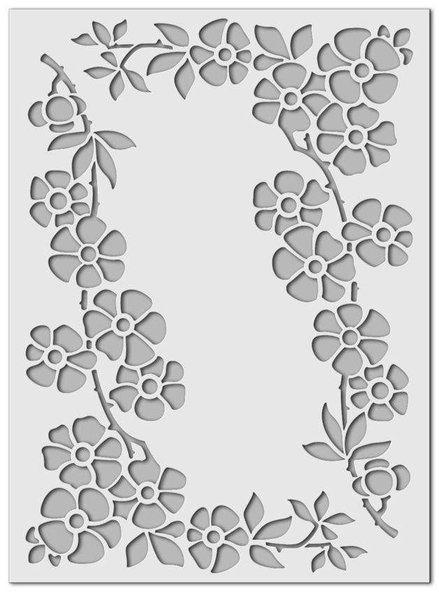 Stencil Wandschablone Streublumchen Etsy Wandschablonen Schablonen Schablone Fur Wand