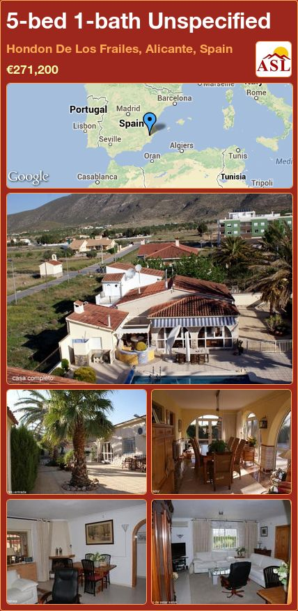 5-bed 1-bath Unspecified in Hondon De Los Frailes, Alicante, Spain ►€271,200 #PropertyForSaleInSpain