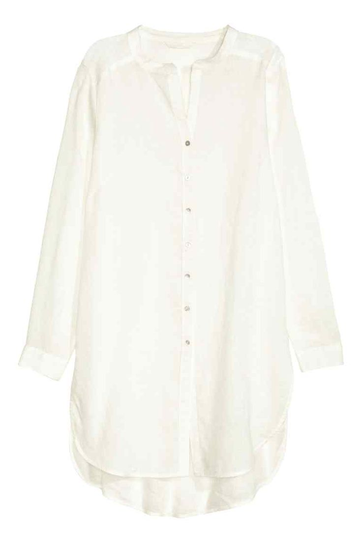 Long linen blouse | H&M