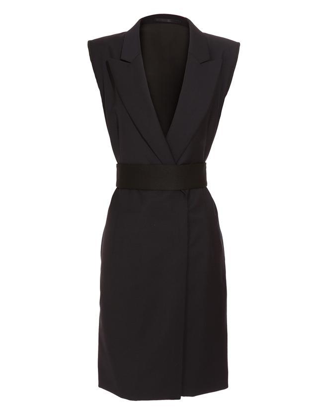 TIM SOAR Belted wool tuxedo dress   £255.00