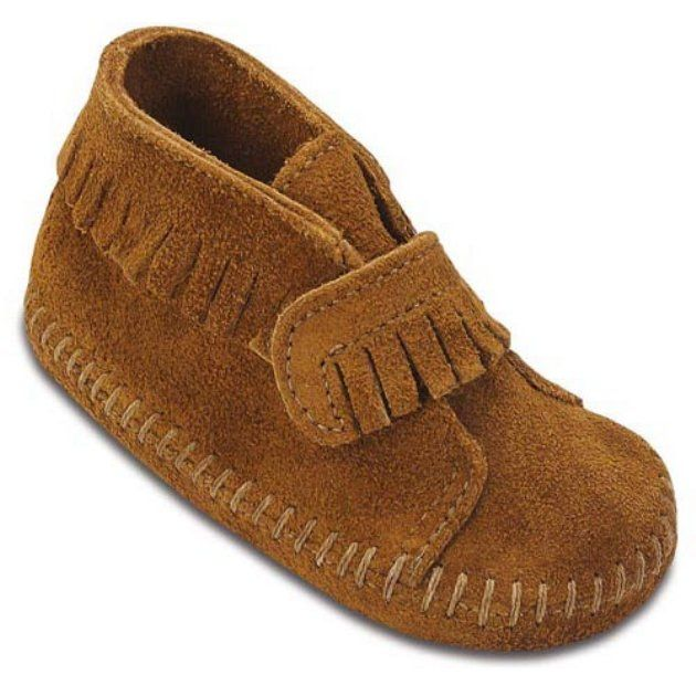 Minnetonka Infants Velcro Strap Bootie!! Or these :)
