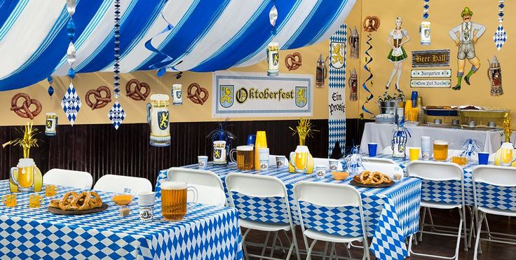 Oktoberfest Party Supplies  A little more commercial than I think we were looking for, but might give some ideas.
