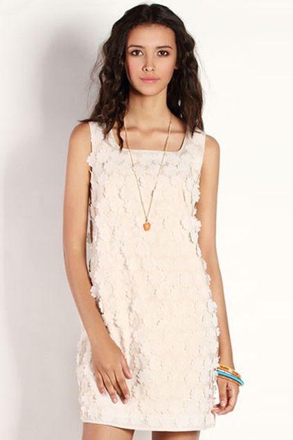 ROMWE | Contrasting Stereo Petal Apricot Dress, The Latest Street Fashion #ROMWEROCOCO
