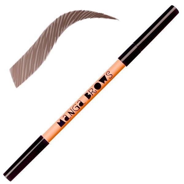 Manga Brows rich brown & black brown. Kit pour définir, remplir et modeler les sourcils - pour le châtain foncé, acajou et brun.