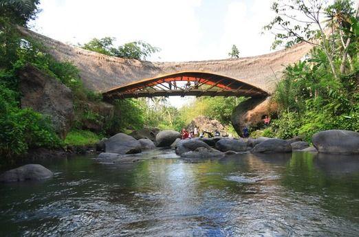 The Green School bridge. Photo courtesy of The Green School via The Jakarta Post Travel.