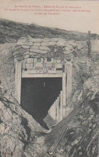 1916. The Battle of Verdun, the tunnel of the Crown Prince