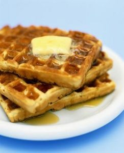 How to Make a Rich, Low-Carb Waffle With Coconut Flour // 4 eggs 1 tsp. olive oil 1 tsp. vanilla 1/4 tsp. baking soda 1/4 tsp. cinnamon 1 tsp. honey or other sweetener 2 tbsp. coconut flour