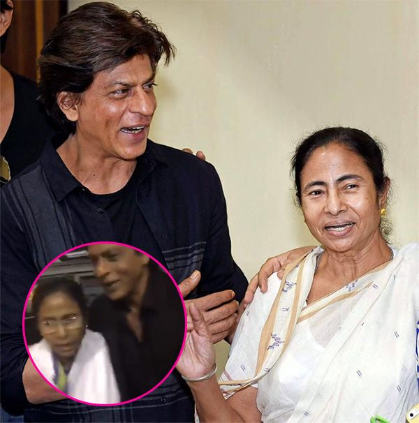 West Bengal Chief Minister Mamata Banerjee ensures Shah Rukh Khan reaches the airport safe and sound as she drops him off in… #FansnStars
