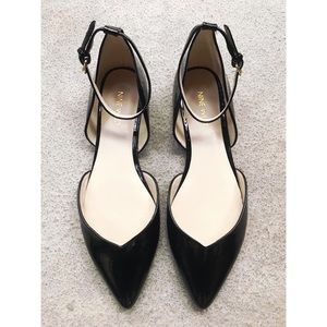 Nine West Girl/'s Fundew Black//White Two-Tone Dress Flats Shoes