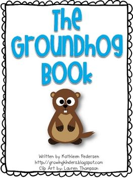 Here is a fun little book about groundhogs to use with your kiddos on or before February 2nd!  Enjoy!It would be great if you would leave me so...