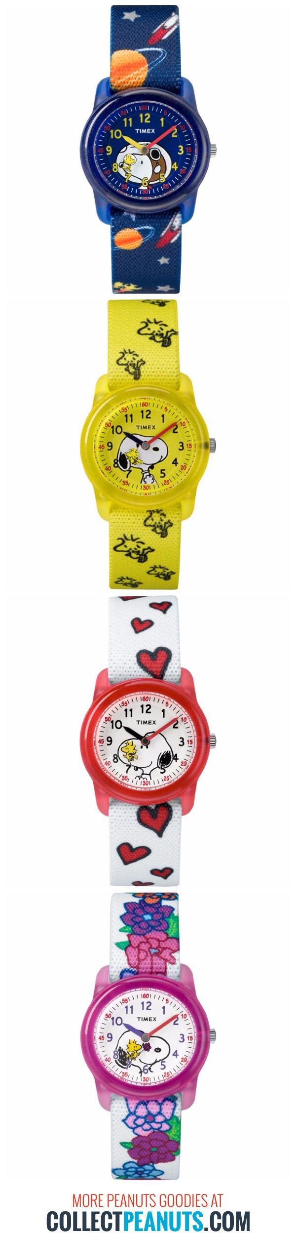 Spend some time with your favorite Peanuts characters! Shop Charlie Brown, Snoopy, Woodstock, Linus and Lucy Timex watches and help support CollectPeanuts.com.