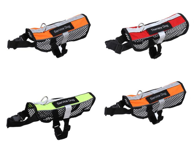 Reflective Breathable Service Dog Harness Service Dog Life Vest, all sizes, 4 colors highest quality, durable!