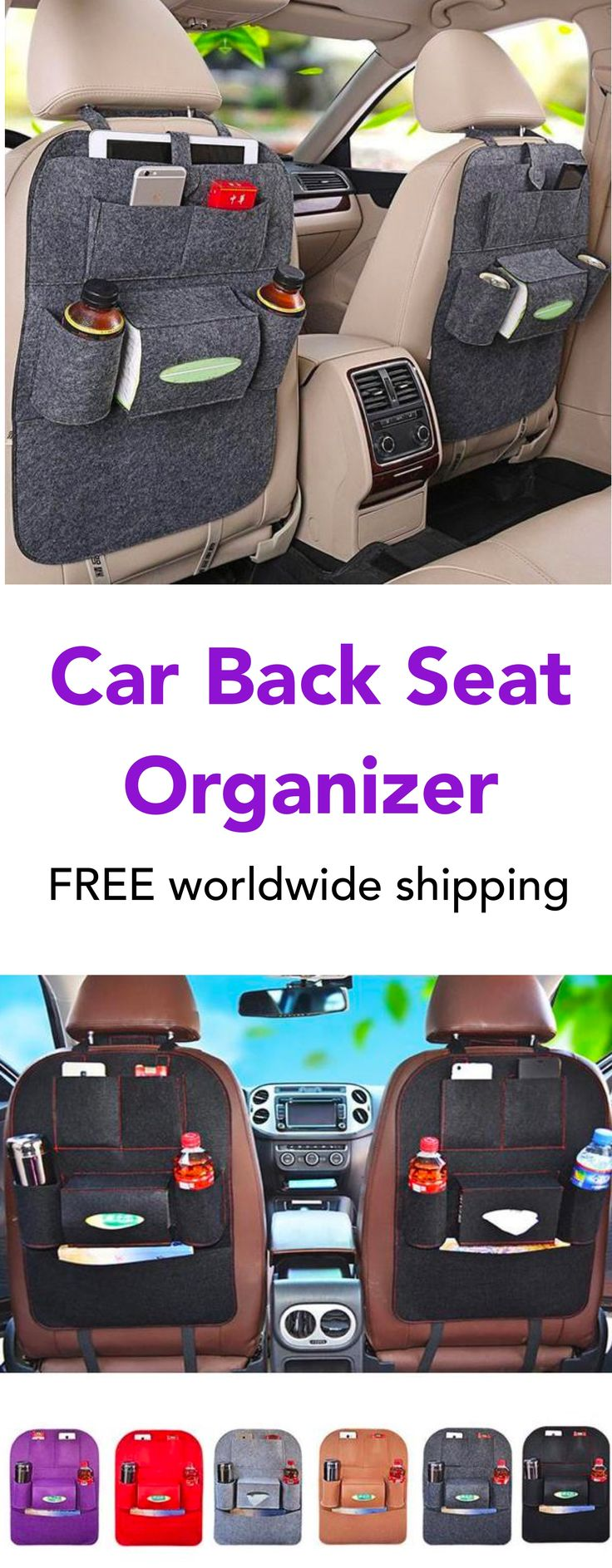 Car Back Seat Organizer (Cool Crafts Products)