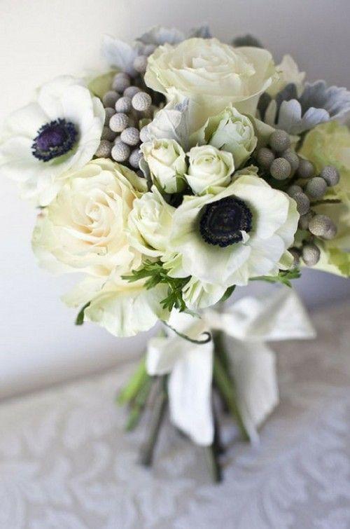 ranunclus and anemone bridal bouquet | Arragement by Elizabeth Harris Event Design via Style Me Pretty ...