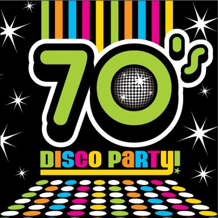 Luncheon Napkins Matching Our Disco 70s Party Decorating Theme Each Napkin Has A