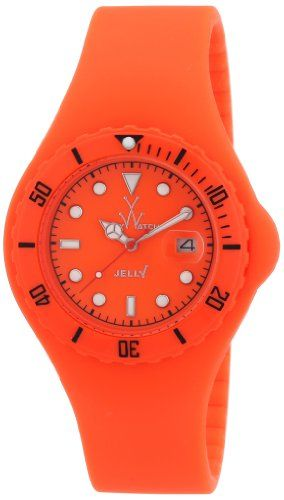 Women's Wrist Watches - ToyWatch Jelly Watch JY03OR Orange Silicone Strap Plasteramic Case Date Display Interchangeable Strap *** You can get additional details at the image link.