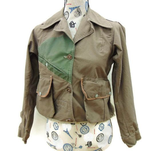 Vintage Women's Fly Fishing Jacket by Masland, 50's Canvas Bird Hunting Coat, Ladies Size Extra Small to Small