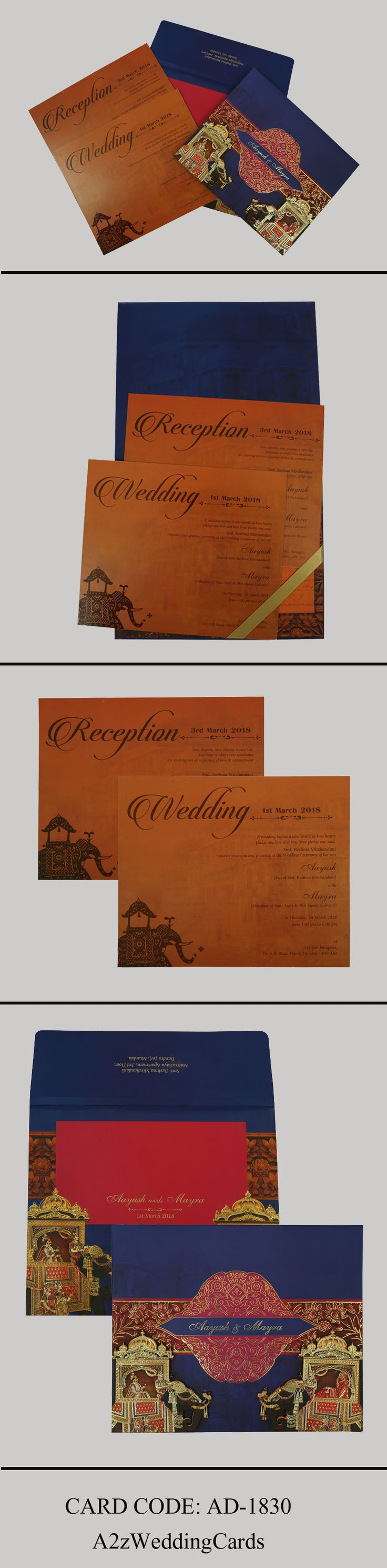 indian wedding cards wordings in hindi%0A  Blue colored  HinduWeddingInvites for your  Royal  bluewedding    HinduCards  IndianWeddingCards