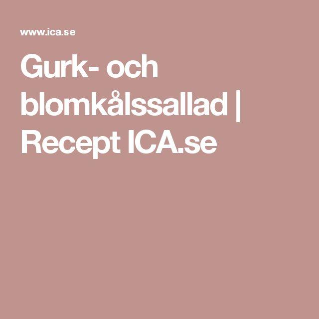 Gurk- och blomkålssallad | Recept ICA.se