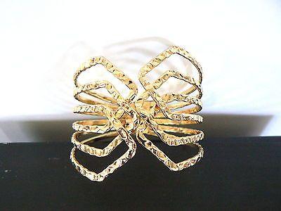 BRACELET Manchette doré motif fleur stylisée accessoire mode femme …