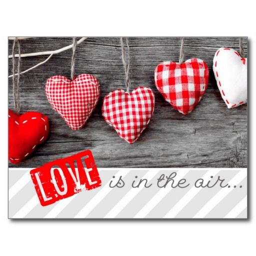 Rustic Craft Hearts Valentine's Day Postcards - #zazzle