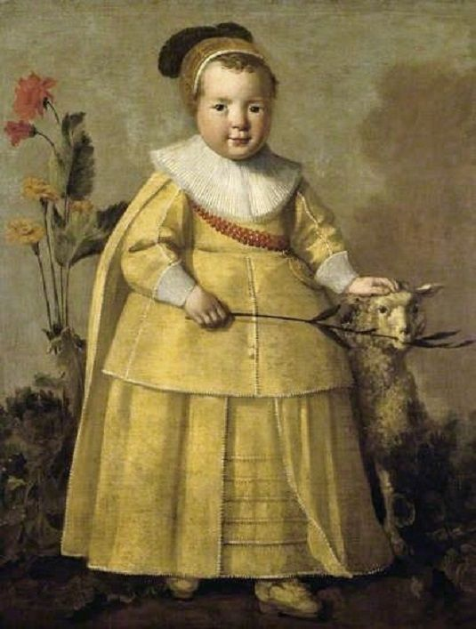 1639 Aelbert Cuyp (Dutch painter, 1620-1691) One-Year-Old Boy with a Sheep