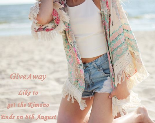 #LIKETOWIN the Kimono, i will choose one winner on 8th August .Big news:This Summer, Meet Kimono-- $11.99 on this Thursday, 24 hours only. You will save 60% and enjoy free shipping>>