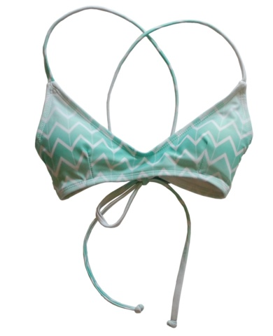 Kovey Swell Top in Currents california blue bikini swimwear made in san diego summer girl