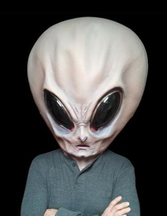 Big Alien Head Mask - Really looks human on Halloween - #scary # masks for halloween - Click Pic for More Ideas