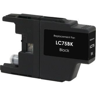 Brother LC75Bk High Yield Black compatible Ink Cartridge