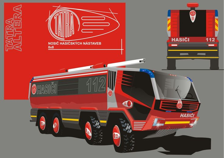 Tatra 853 ALTERA project Fire and rescue truck of the 2020 year