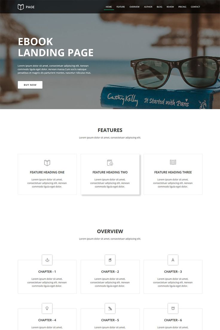 Page - EBook Landing Page Muse Template #66291