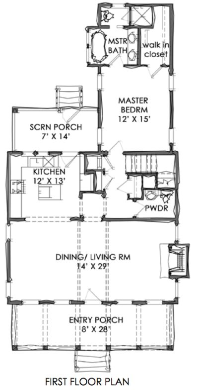 Tnh sc 47a house plan by moser design group empty Best empty nester house plans
