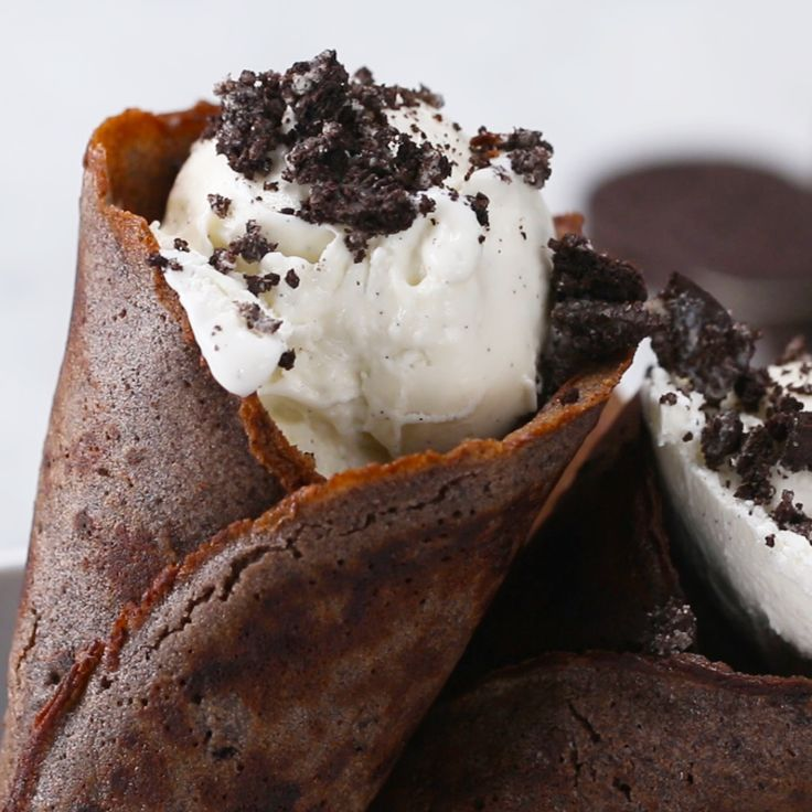 Cookies and Cream Ice Cream Cones by Tasty
