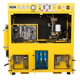 Where do you put a Nitrox Compressor when you have no where to put it? Can you believe this Nuvair Voyager I compressor has been in operation since 2005? Supplying Nitrox for aquaculture diving in …