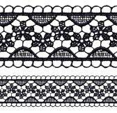 toile : Calado negro borde de encaje transparente. Ilustración vectorial realista. Ilustración
