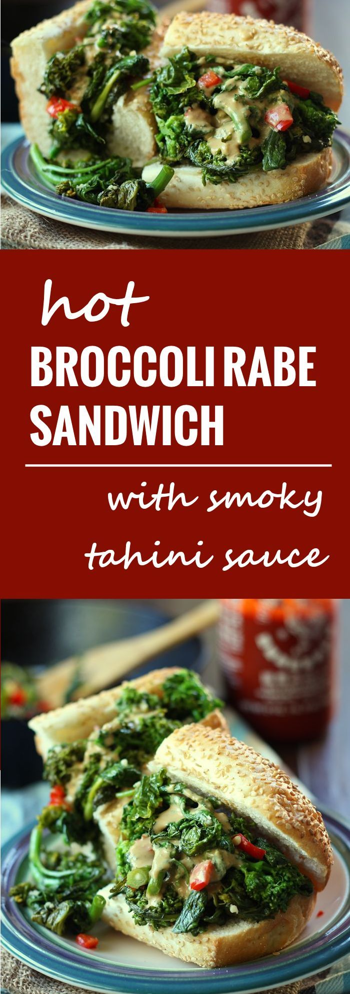 This toasty broccoli rabe sandwich is stuffed with spicy, garlicky ...
