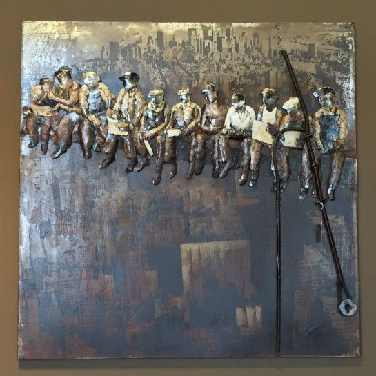 Χειροποίητος Πίνακας Ζωγραφικής Εργάτες Λαμαρίνα http://nedashop.gr/Spiti-Diakosmhsh/diakosmhtika-toixoy/xeiropoihtos-pinakas-zografikhs-ergates-lamarina
