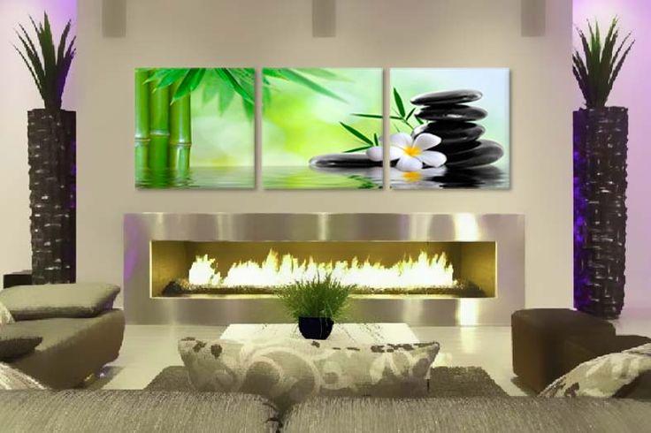 Tablouri plumeria bamboo 5708  Dimensiuni: 3x 50x50 cm  Total ocupat: 150x 50 cm