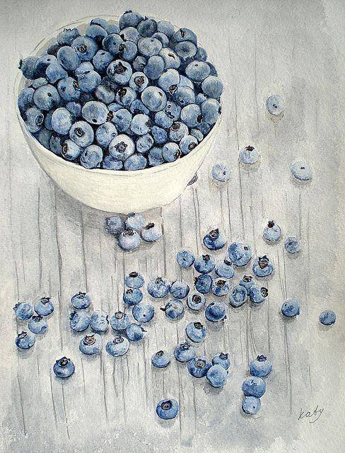 Blueberries watercolour