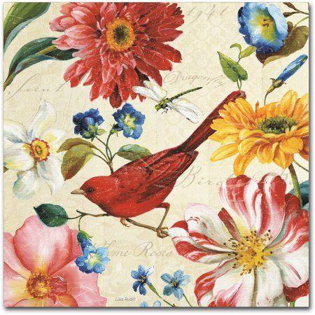 Trademark Fine Art Rainbow Garden III Cream Canvas Art by Lisa Audit, Size: 14 x 14, Multicolor