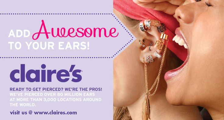Claire's ear piercing coupon