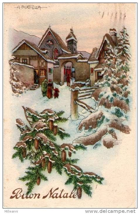 Popolare 133 best Buon Natale cartoline vintage images on Pinterest  IZ32