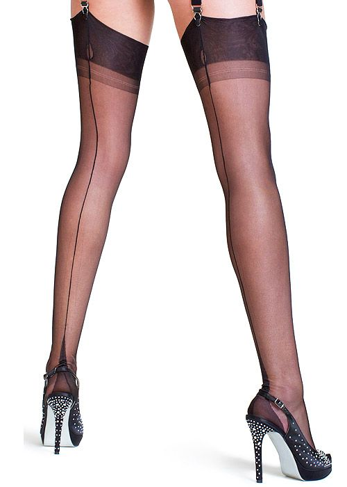 Seamed Stockings, Nylons, Tights Fully Fashioned Point Heel Stockings £20.95 AT vintagedancer.com