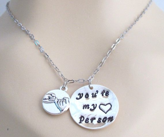 Pinky, Promise, You're my person,Grey's Anatomy, You are my person, Necklace, Greys Anatomy,Pinky Promise Necklaces, Free Shippin In USA