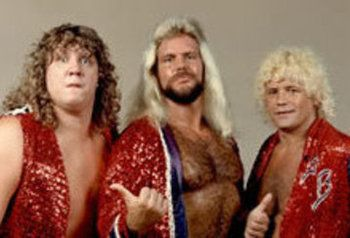 The Fabulous Freebirds were a professional wrestling tag team that attained fame in the 1980s, performing into the 1990s. The team usually consisted of three wrestlers